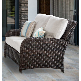 St Croix All Weather Outdoor Resin Wicker Loveseat