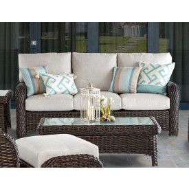 All Weather Outdoor Wicker Sofa, St Croix