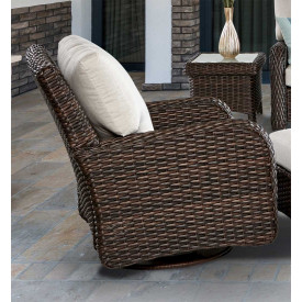 St Croix All Weather Outdoor Resin Wicker Swivel Glider Chair