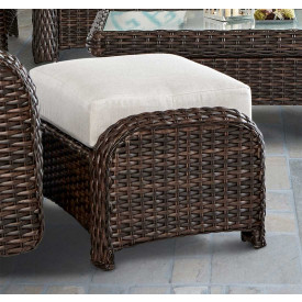 St. Croix All Weather Outdoor  Resin Wicker Ottoman
