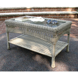 Belaire Resin Wicker Cocktail or Coffee Table