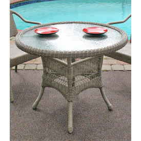 "Resin Wicker Dining Table 36"" Round"