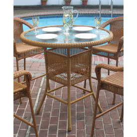 Resin Wicker High Dining Table 42' round