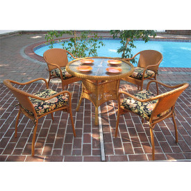 36 Round Resin Wicker Dining Set in 5 Colors