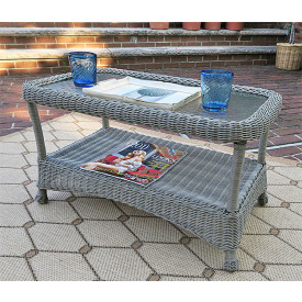 Veranda Resin Wicker Coffee Table with Inset Glass Top