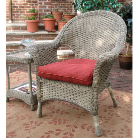 Veranda High Back Resin Wicker Chair with Cushion