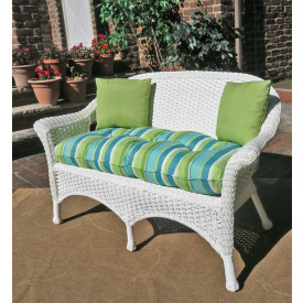 Veranda Resin Wicker Loveseat With Seat Cushion