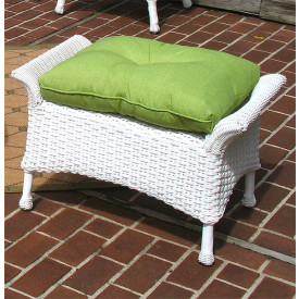 Veranda Resin Wicker Ottoman With Cushion