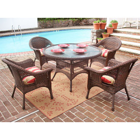 5 Pc Veranda 48 Dining Set with Cushions