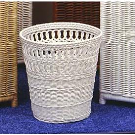 Wicker Waste Basket Circle Round