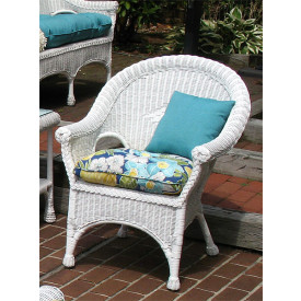 Natural Rattan Diamond Wicker Chair with Cushion