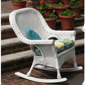 Diamond High Back Wicker Rocking Chairs