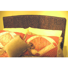 Mahogany Framed, Water Hyacinth Full Queen Headboard