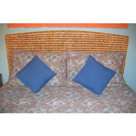 Mahogany Framed, Water Hyacinth King Headboard