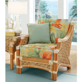 Aloha Rattan Lounge Chair with Cushions