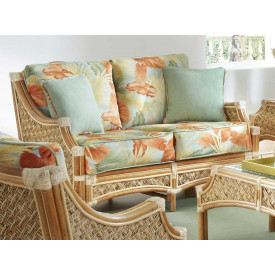 Aloha Rattan Loveseat with Cushions