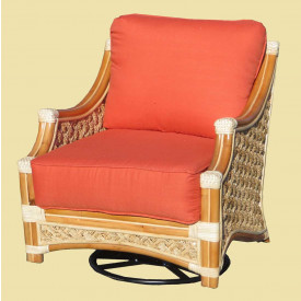 Natural Rattan Swivel Rocker, Aloha
