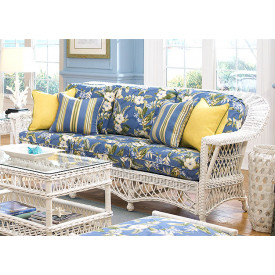 Harbor Beach Natural Wicker Sofa