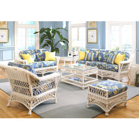 (6) Piece Harbor Beach Wicker Furniture Set