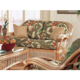 Mariner Rattan Loveseat with Cushions