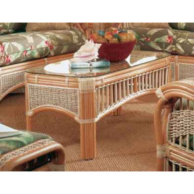 Mariner Natural Rattan Wicker Cocktail Table