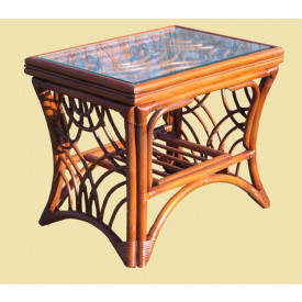 South Pacific Natural Rattan End Table