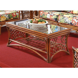 South Pacific Natural Rattan Cocktail Table