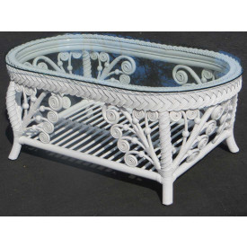 Victorian Wicker Cocktail Table