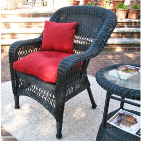 Belair Resin Wicker Chair with Cushion