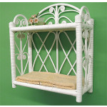 Heart SidesTwo Tier Wicker Wall Rack - WHITE