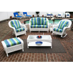 4 Pc Laguna Beach Resin Wicker Patio Furniture - WHITE