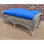 Belaire Wicker Bench with Cushion - DRIFTWOOD