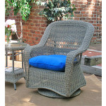 Belair Resin Wicker Swivel Glider Chairs  - DRIFTWOOD
