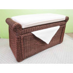 Woodlined Wicker Blanket Chest or Trunlk  - TEAWASH