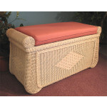 Woodlined Wicker Blanket Chest - WHITEWASH