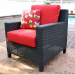 Caribbean Resin Wicker Chair  - BLACK