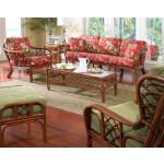 5 Piece Grand Isle  Natural Rattan Sofa Set -