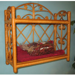 Heart SidesTwo Tier Wicker Wall Rack - CARAMEL
