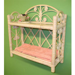 Heart SidesTwo Tier Wicker Wall Rack - WHITEWASH