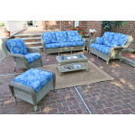 6 Piece Laguna Beach Resin Wicker Patio Furniture with Sofa & Love Seat - DRIFTWOOD