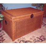 Wicker Trunk for Storage (Large) - TEAWASH