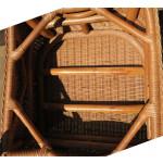 Naples Rattan Framed Natural  Wicker Chair - CHAIR BOTTOM