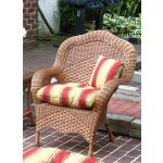 Naples Rattan Framed Natural  Wicker Chair - TEAWASH