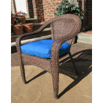 Resin Wicker Dining Chair With Cushion - ANTIQUE BROWN