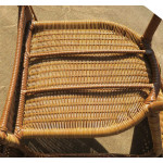Resin Wicker Dining Chair With Cushion - CHAIR BOTTOM