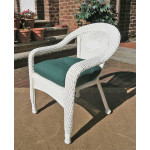 Resin Wicker Dining Chair With Cushion - WHITE-SP-800