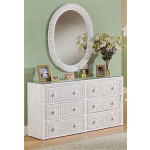 Traditional 6 Drawer Wicker Bedroom Dresser -