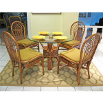 "Savannah 42"" Round Natural Rattan Dining Sets - TEAWASH"