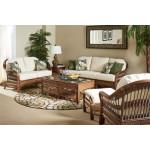 (6) Piece Bermuda Rattan Sofa Group - PECAN