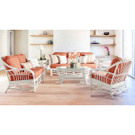 6 Piece Natural Rattan Sofa Set, Tahiti - WHITEWASH